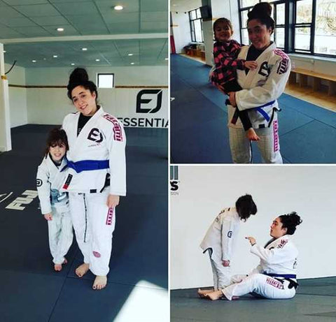 Raina with her coach Moana at Essential BJJ Academy