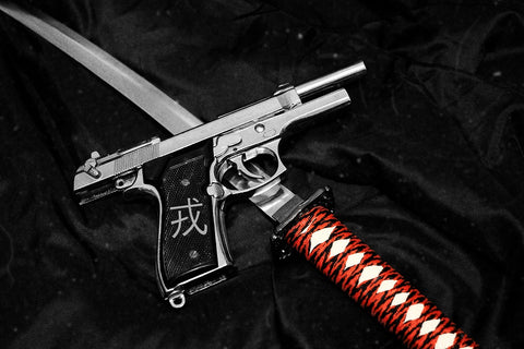 Samurai Sword and Gun