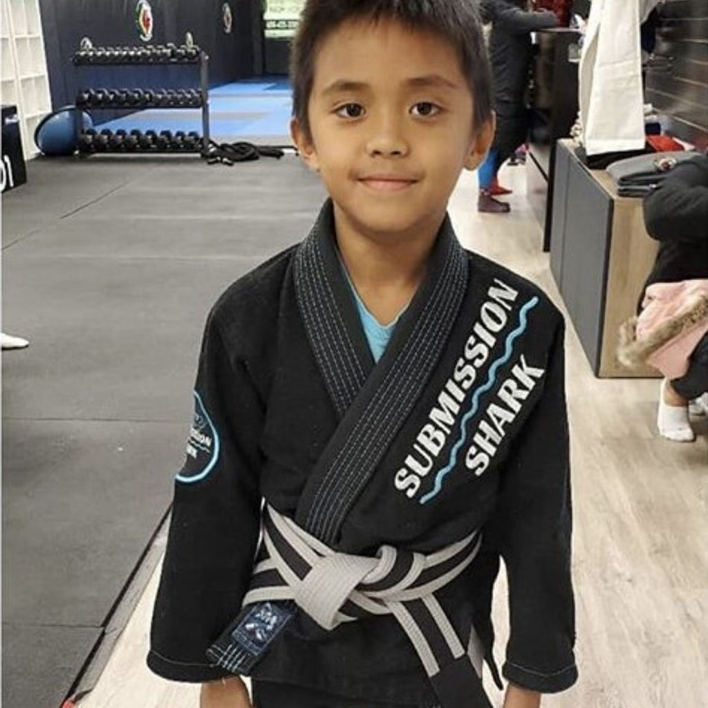 Submission Shark Black BJJ Gi For Kids