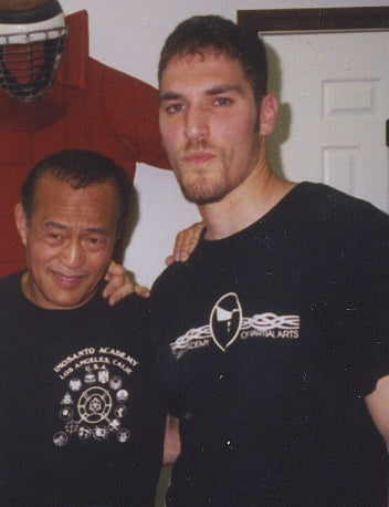 Steven Abood and his martial arts friend