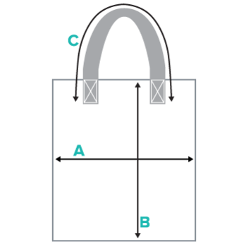 Tote Bags Size Chart (Diagram)