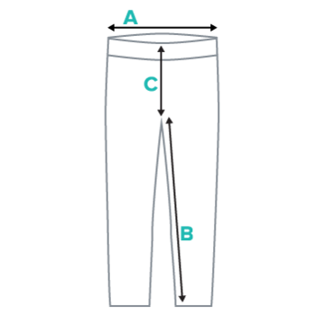 Youth Leggings Submission Shark Size Chart