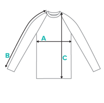 Youth Rash Guards Submission Shark Size Chart