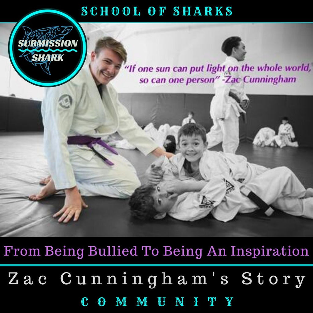 Zac Cunningham teaching BJJ to kids at Gracie Academy