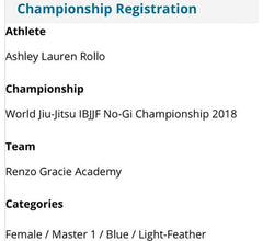 Ashley Lauren Rollo IBJJF