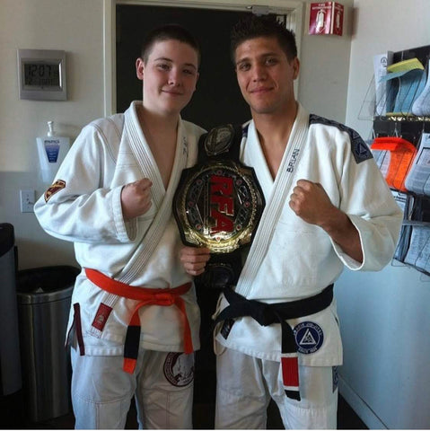 Zac Cunningham with Brian T-City Ortega back in 2014