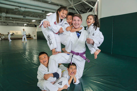 Zac Cunningham Teaching BJJ to Kids