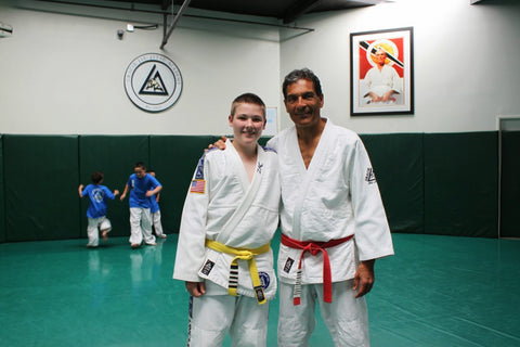 With Grandmaster Rorion Gracie at 15 years old