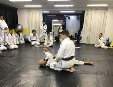 Zac Cunningham Teaching Jiu-Jitsu at the Certified Training Center in Osaka, Japan