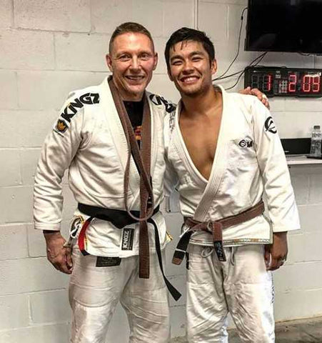 Josh Mckinney  Father's BJJ black belt promotion