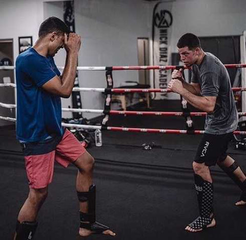 Mikey Hothi and Nate Diaz Training