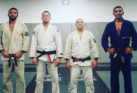 Mikey Hothi Jiu-Jitsu Brown Belt with Black Belts