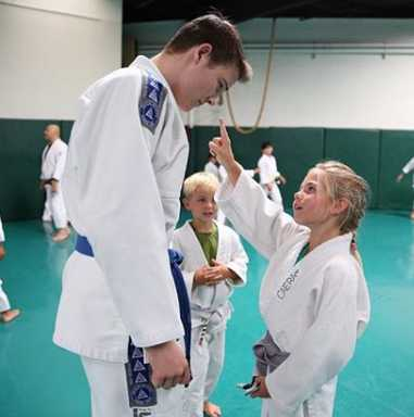 Zac Cunningham Inspiring Students at Gracie BJJ Academy