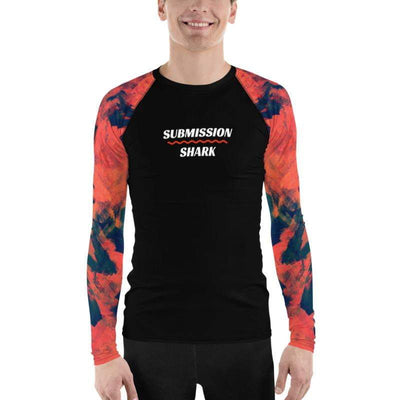 Shop Men's BJJ Rash Guard (Abstract Azure)