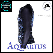 Aquarius Rashguard (Long Sleeve) | Submission Shark's Fitness and MMA Apparel | Left Side