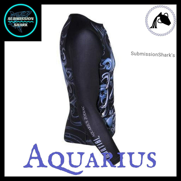 Aquarius Rashguard (Long Sleeve) | Submission Shark's Fitness and MMA Apparel | Right Side