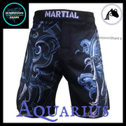 Aquarius MMA Fight Shorts | Submission Shark's Fitness and Nogi Jiu Jitsu Apparel | Front
