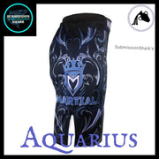 Aquarius MMA Fight Shorts | Submission Shark's Fitness and Nogi Jiu Jitsu Apparel | Right Side