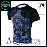 Aquarius Compression Shirt | Submission Shark's Fitness and MMA Apparel | Front Left