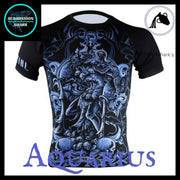 Aquarius Compression Shirt | Submission Shark's Fitness and MMA Apparel | Front