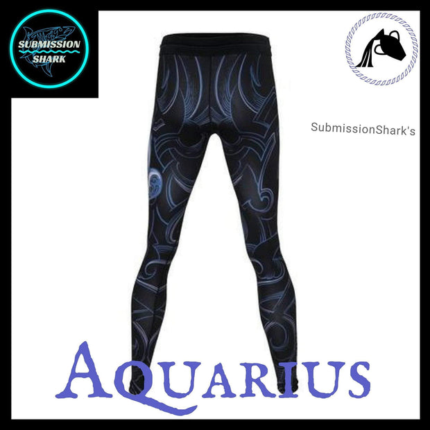 Aquarius Compression Spats | Submission Shark's MMA and Fitness Apparel | Back