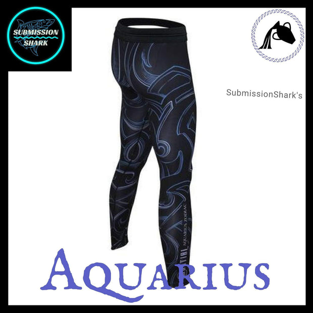 Aquarius Compression Spats | Submission Shark's MMA and Fitness Apparel | Right Back