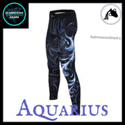 Aquarius Compression Spats | Submission Shark's MMA and Fitness Apparel | Left Front