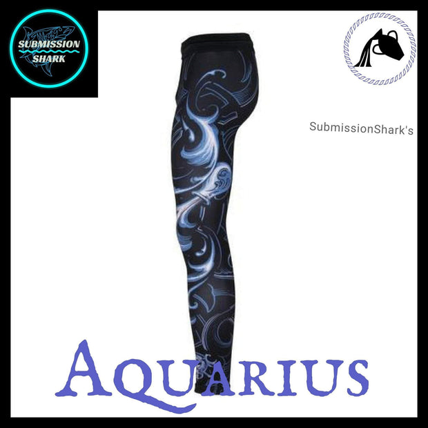 Aquarius Compression Spats | Submission Shark's MMA and Fitness Apparel | Left Side