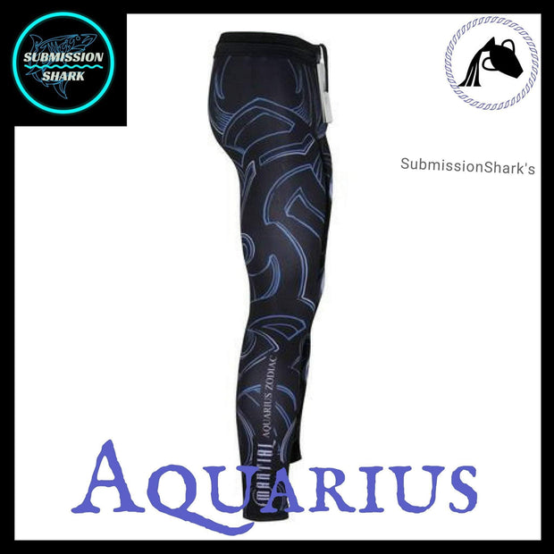 Aquarius Compression Spats | Submission Shark's MMA and Fitness Apparel | Right Side
