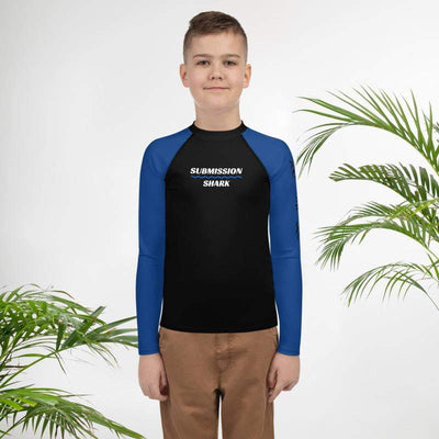 Blue SS Premium Standard | Youth Rash Guard | Submission Shark - tamlifestyle