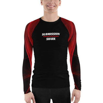 Men's Red BJJ Rash Guard (Calm Blaze)