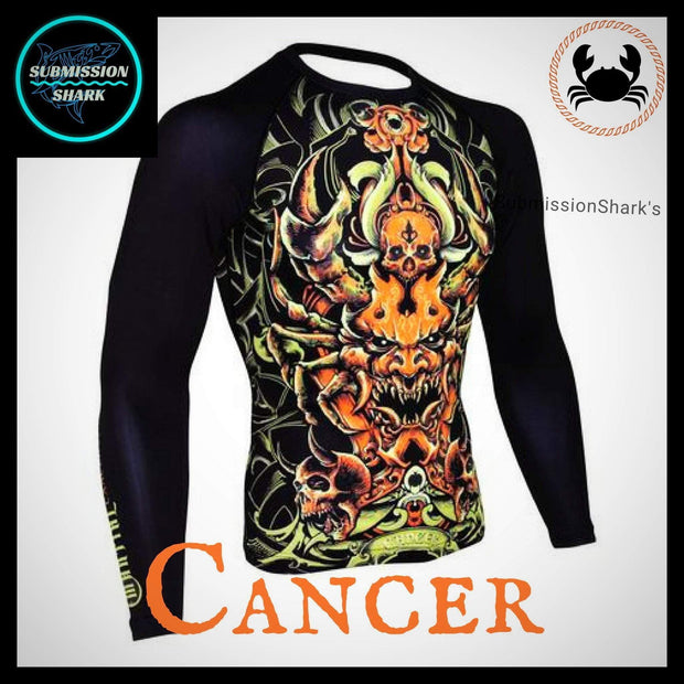 Cancer Rashguard (Long Sleeve) | Submission Shark | Front Right Side