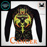 Cancer Rashguard (Long Sleeve) | Submission Shark | Back
