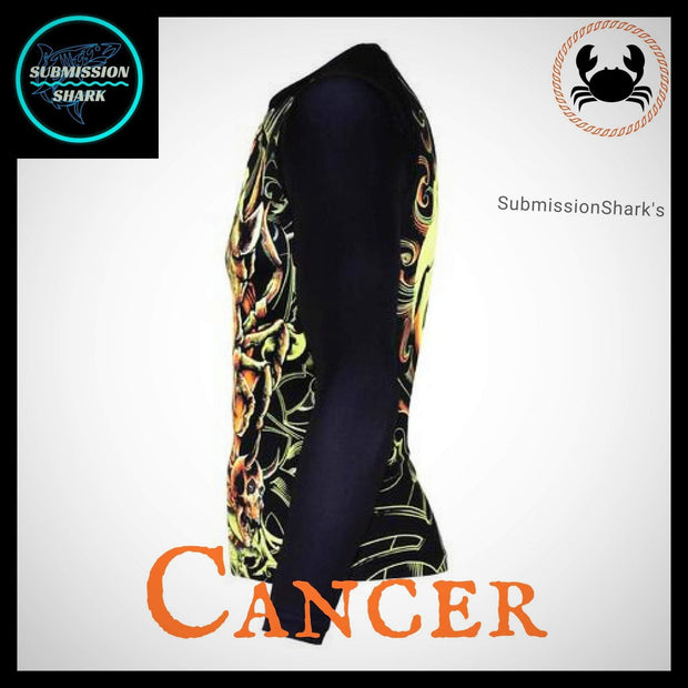 Cancer Rashguard (Long Sleeve) | Submission Shark | Left Side