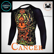 Cancer Rashguard (Long Sleeve) | Submission Shark | Left Front