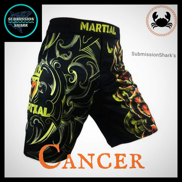 Cancer MMA Fight Shorts | Submission Shark | Front Right Side