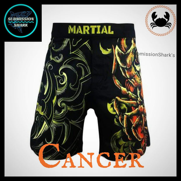 Cancer MMA Fight Shorts | Submission Shark | Front