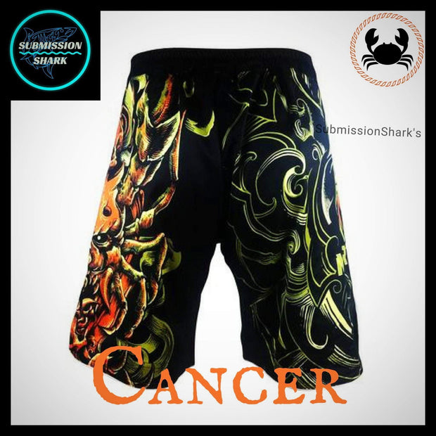 Cancer MMA Fight Shorts | Submission Shark | Back