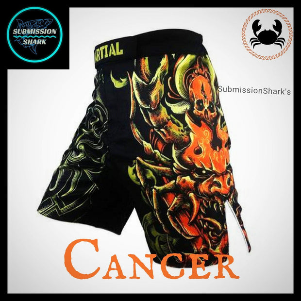 Cancer MMA Fight Shorts | Submission Shark | Front Left Side
