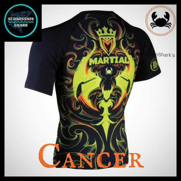Cancer Compression Shirt | Submission Shark | Left Back