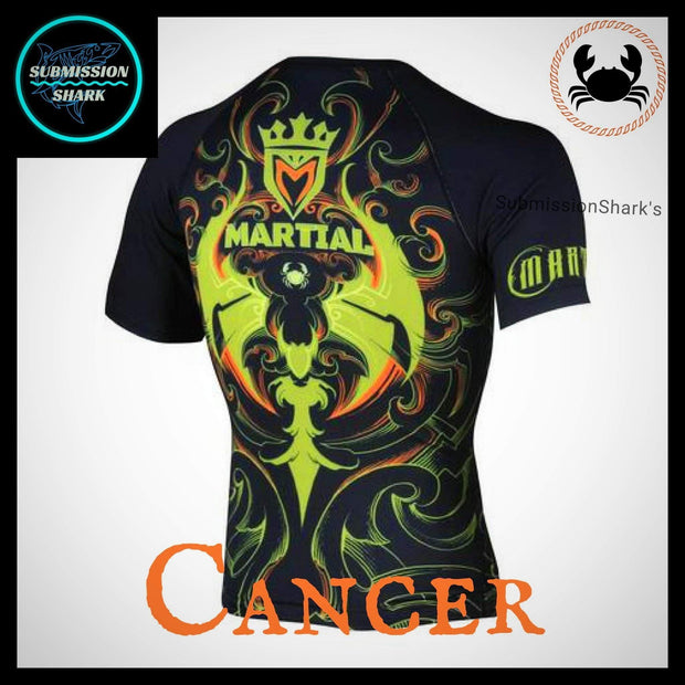 Cancer Compression Shirt | Submission Shark | Back Right