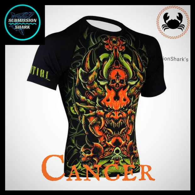 Cancer Compression Shirt | Submission Shark | Front Right
