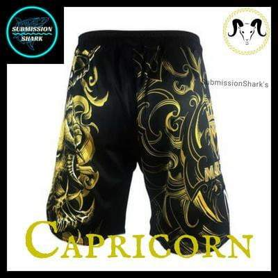 Capricorn MMA Fight Shorts | Submission Shark's Dark Zodiac Series