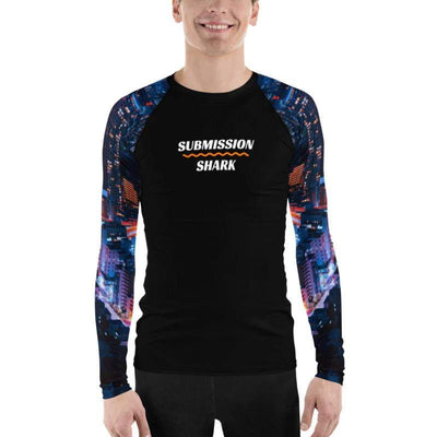Men's BJJ Rash Guard (City Lights)