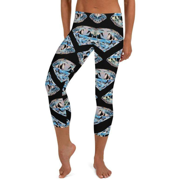 Diamonds Last Forever | Capri Leggings | Submission Shark - tamlifestyle