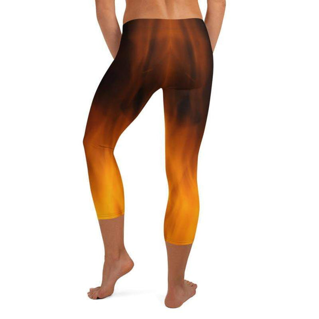 Fiery Hot | Capri Leggings | Submission Shark - tamlifestyle