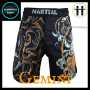 Gemini MMA Shorts | Submission Shark | Front