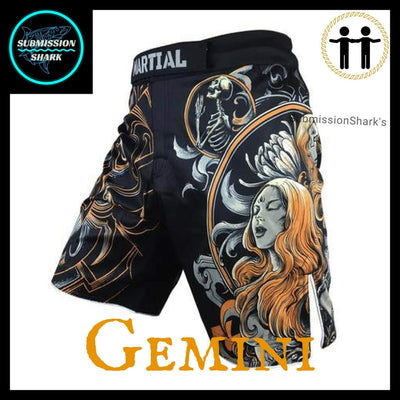 Gemini MMA Shorts | Submission Shark | Front Left