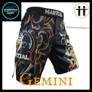 Gemini MMA Shorts | Submission Shark | Front Right