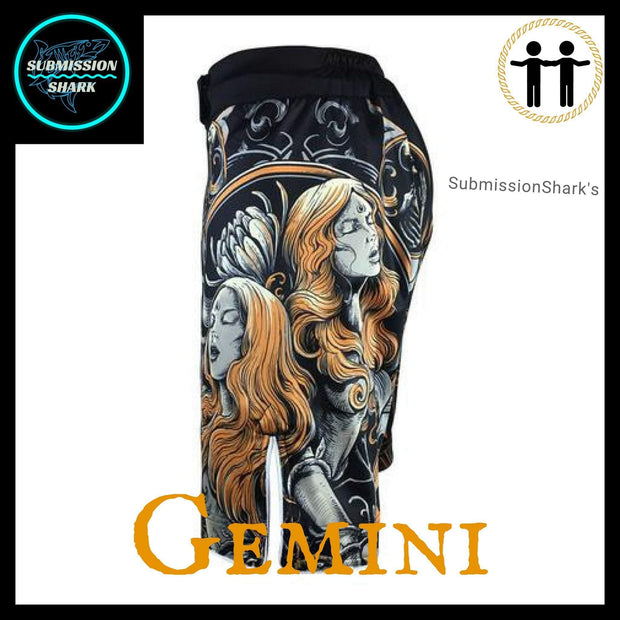 Gemini MMA Shorts | Submission Shark | Left